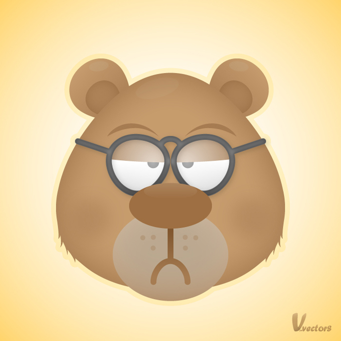 Animated Character Design In Illustrator : Create the face of a grumpy bear vforvectors